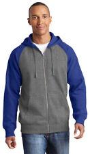 Sport-Tek Men's Three Panel Pouch Pocket Full Zip Drawcord Hooded Jacket. ST269
