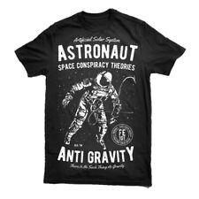 T Shirt Space Logo Nasa Geek Mens Astronaut Print Trendy Soviet  S-3XL
