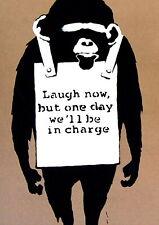 139025 BANKSY LAUGH NOW Wall Print Poster CA