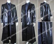 The Matrix Cosplay Neo Snake Grain Leather Coat Costume Halloween The Full Set