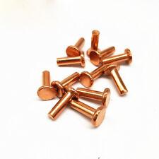 M4 Flat head Copper Rivets Brass Solid Percussion Rivet Cap Nail 5mm-35mm Long