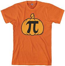 Threadrock Men's Pumpkin Pi T-shirt Geek Funny Halloween Nerd