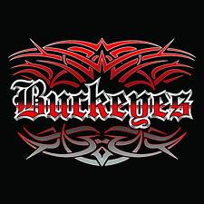 NEW Buckeyes Tattoo Hoodie Hooded Sweatshirt Ohio Small Medium Large XL 2X 3X