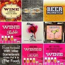 Posavasos De Vidrio Arte Calidad 2 un montón de Alcohol Vino citas divertidos comprobar 'em out!