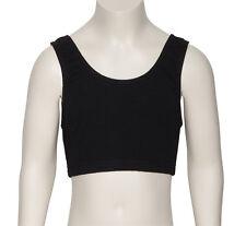 Mädchen Kinder schwarze Baumwolle Tanz Fitnessstudio Fitness Sport Tank