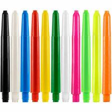 Nylon Dart Stems Shafts Plastic 11 Plain Colours, 4 Lengths, 1-10 Sets