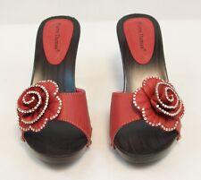 New Pierre Dumas Women's Open Toe Red Flower Design Lila-7 Sandals