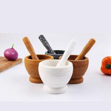 Resin Pestle Mortar Press  Herb Crusher Grinder Squeezer Kitchen