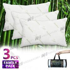 Bamboo Pillow Memory Foam Fabric Fibre Care Contour 70 x 40cm Family Pack