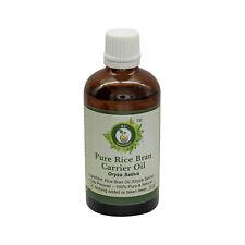 R V Essential Pure Rice Bran Oil (Oryza Sativa) 100% Natural Cold Pressed