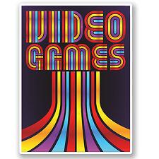 2 x video giochi Adesivo Vinile Decalcomania Ipad Laptop Computer Retrò 80's REGALO # 4798