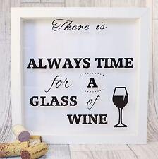 Wine Cork Shadow Box - Wine Cork Drop Box - Wine Lovers Gift - Gift for Friends