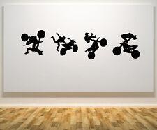 Moto Stunts Tricks vélos Véhicule Art décalque autocollant image affiche