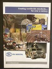 10/2005 PUB FN HERSTAL BELGIQUE MITRAILLEUSE MINIMI PISTOLET HUMMER ORIGINAL AD