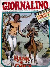 Giornalino 43 1983 Gianburrasca di G. De Luca -I Puffi - Hans + inserto Conosce
