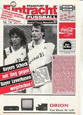 BL 89/90 Eintracht Frankfurt - Bayer 04 Leverkusen