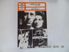 CARTE FICHE CINEMA 1968 L'HEURE DU LOUP Max Von Sydow Liv Ullmann Ingrid Thulin