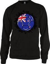 New Zealand Flag Soccer Ball Team Aotearoa Kiwi Colors Goal NZL NZ Men's Thermal
