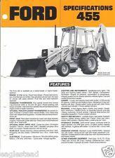 Equipment Brochure - Ford - 455 - Tractor Loader Backhoe c1987 (EB366)