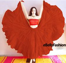 Fire Brick Cotton Gypsy Skirt 4 Tier 25 Yard Belly Dance Tribal Jupe Flamenco
