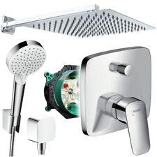Unterputz Duschsystem mit Kopfbrause 300 x 300, Crometta, iBox, Hansgrohe Logis