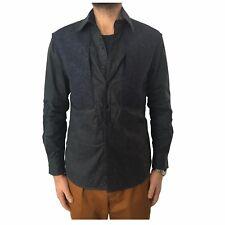 INDIGO AND GOODS shirt over man blue mod JOHNSTONE OVERSHIRT cotton + wool