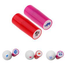 2Pcs/Set Colorfast Quick-dry Golf Ball Stamp Stamper Marker Golfer Club Gift