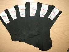 Children's socks shoe size 9-12 Ankle Length in Black. UK made...