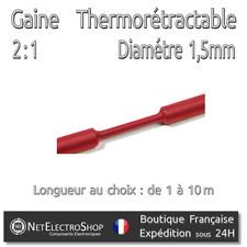 Gaine Thermorétractable 2:1 - Diam. 1,5 mm - Rouge - 1 à 10m #017