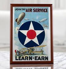 WW1 Aviation Recruiting Poster - WWI American Recruitment Propaganda Air Force