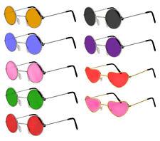 9ea085f34cf HIPPY GLASSES 60S 70S FANCY DRESS COSTUME ACCESSORY HIPPIE JOHN LENNON SPECS