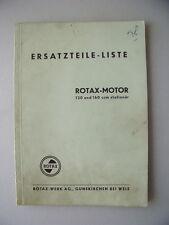 Rotax-Motoren Ersatzteile-Liste 120 und 160 ccm stationär Ausgabe 1957 Rotax (2)