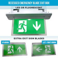Encastré luminaires de secours LED boîte de sortie de lame ou de lumières fluorescentes feu sortie