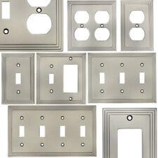 Satin Nickel Switch Wall Plate Duplex GFCI Rocker Decora Switchplate Outlet