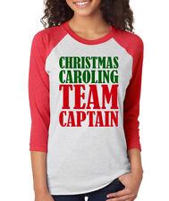 CHRISTMAS CAROLING TEAM CAPTAIN choir chorus music Women's 3/4 Sleeve T-Shirt