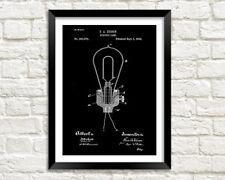 Brevetto di una lampadina STAMPA: Edison ELECTRIC LIGHT BLUEPRINT POSTER