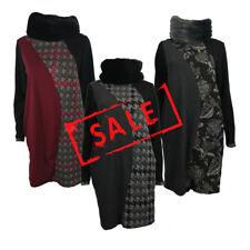 AMAVISSE UK - (RRP £25) Fashion Textured Jumper Sweater Dress Long Sleeves Fur