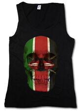 Classic Kenya Skull Flag donna Tank Top Bandiera Teschio Bandiera Banner Kenya
