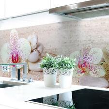 Küchenrückwand Orchideen Weiß Premium Hart-PVC 0,4 mm selbstklebend