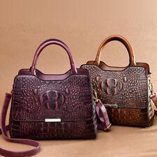 Lady's Leather Crocodile Handbags Sling Satchel Tote CrossBody Bags Shoulder Bag