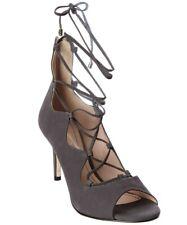 KLUB NICO Matilda Charcoal Blush open-toe sandal tieup slim stiletto heel Bootie