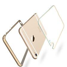 Aluminium Bumper für iPhone 6s und 6  4,7 + Klares Backcover Case Metall  Alu