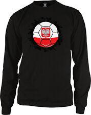 Poland Soccer Ball Pride Polish Polska Bialo-czerwoni Long Sleeve Thermal