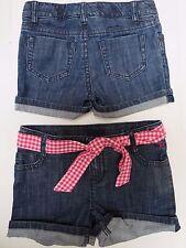 Girls shorts jeans denim  designer 5 6 7 8 9 10 11 12 13 14 years NEW