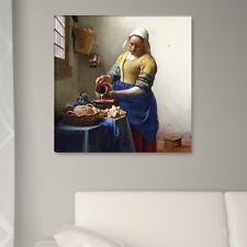 """WANDKINGS Leinwandbild Jan Vermeer - """"Dienstmagd mit Honig"""""""