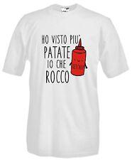 Maglia Ho Visto più Patate Io che Rocco J764 Maglietta T-shirt Fun and Happy