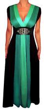 HH@ Funfash Plus Size Clothing Women Black Slimming Block Maxi Dress Made in USA