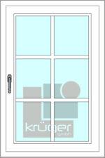 Sprossen zum Nachrüsten - Fenster - Kunststoff selbstklebend weiß mit Kreuz /A