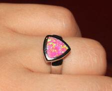 pink fire opal petite earrings ring 6.75 set gemstone silver jewelry cocktail