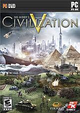 Sid Meier's Civilization V Game for Windows PC DVD-ROM Civ 5 Just Dvd